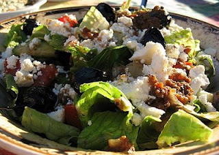 Greek Salad With Roasted Garlic-Tomato Dressing - KALOFAGAS | GREEK ...