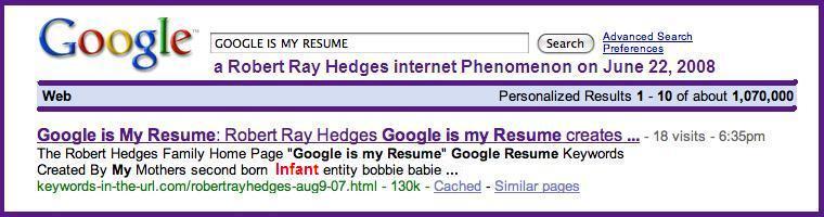 Google Is My Resume - Unitedijawstates