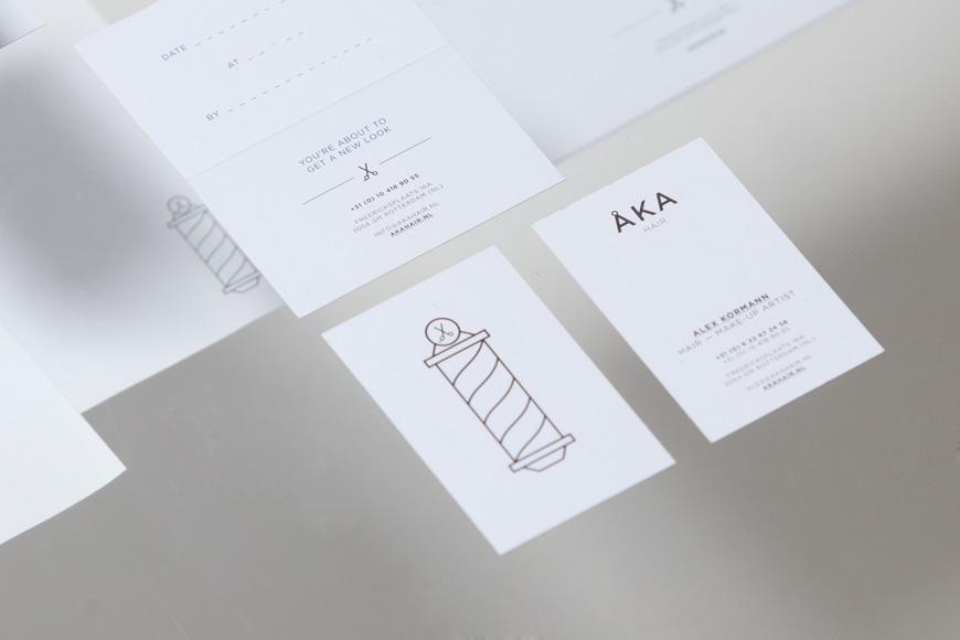 New Logo and Branding for ÅKA Hair by DC - BPO