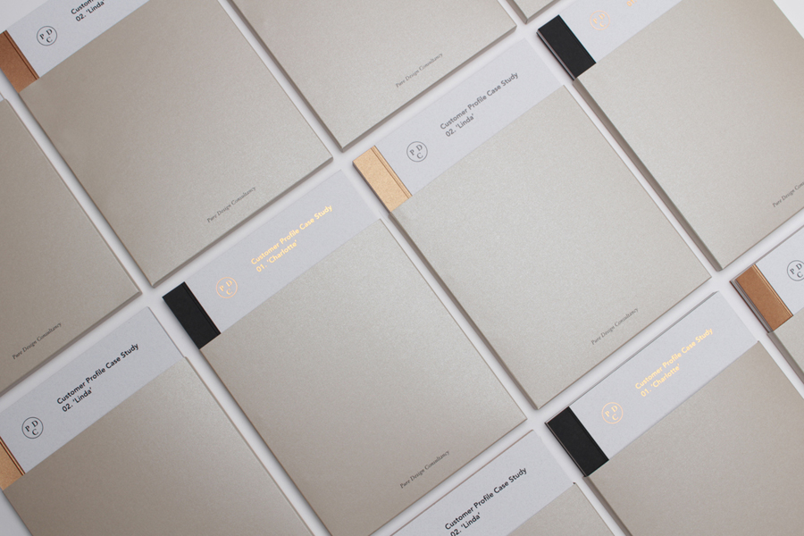 Brand Identity for Pure Design Consultancy by Passport - BP\O - print line paper