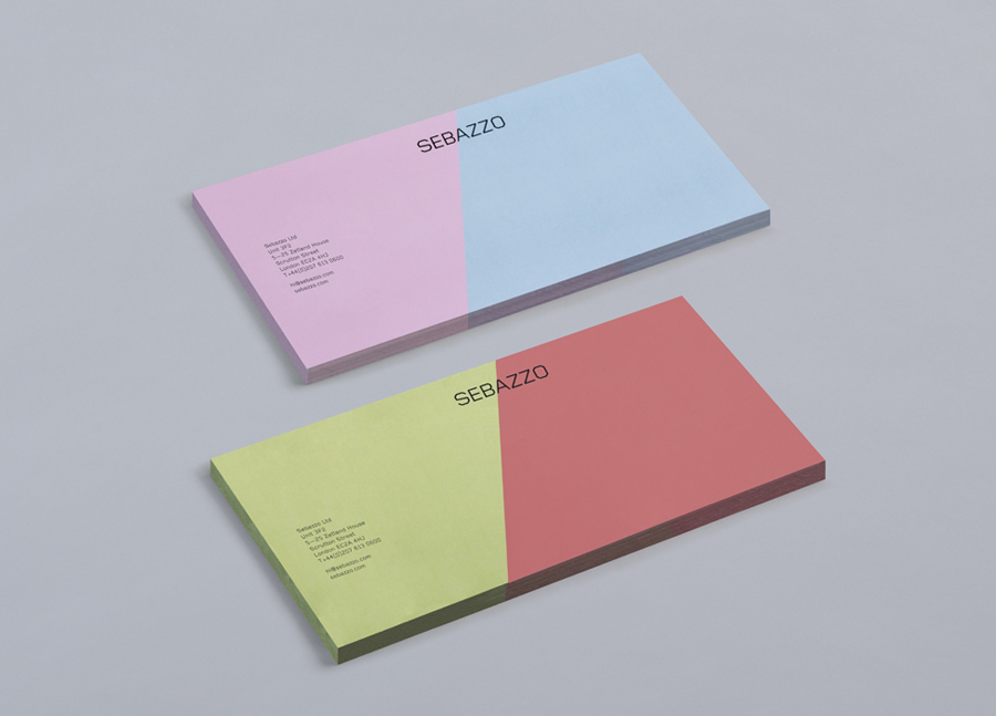 New Logo and Stationery for Sebazzo by Bunch - BP\O - packaging slips