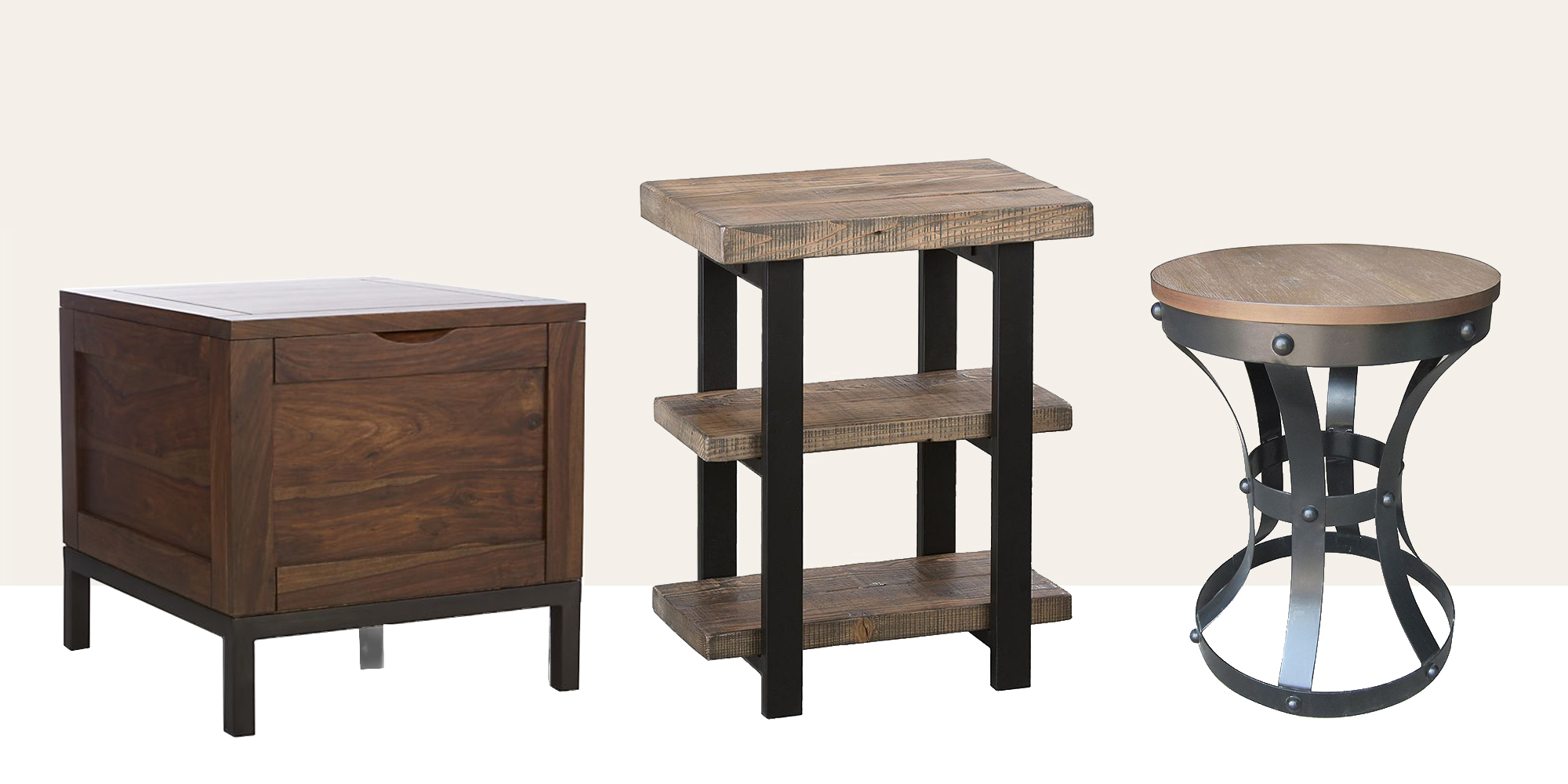 Small Decorative End Tables 15 Best Rustic End Tables In 2018 Modern Country Wood