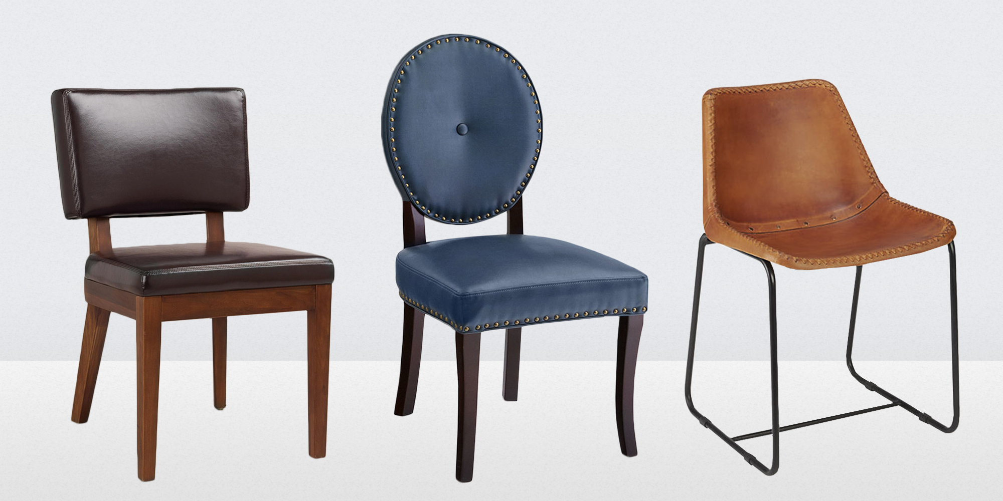 Leather Dining Chairs 13 Best Leather Dining Room Chairs In 2018 Leather Side