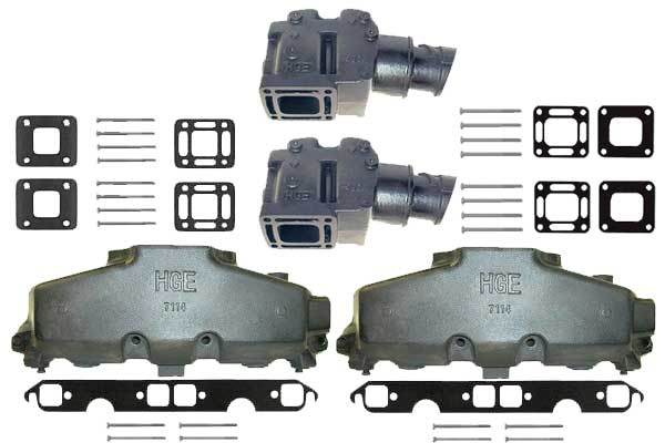 Exhaust Manifold and Riser Kits for Mercruiser Sterndrives