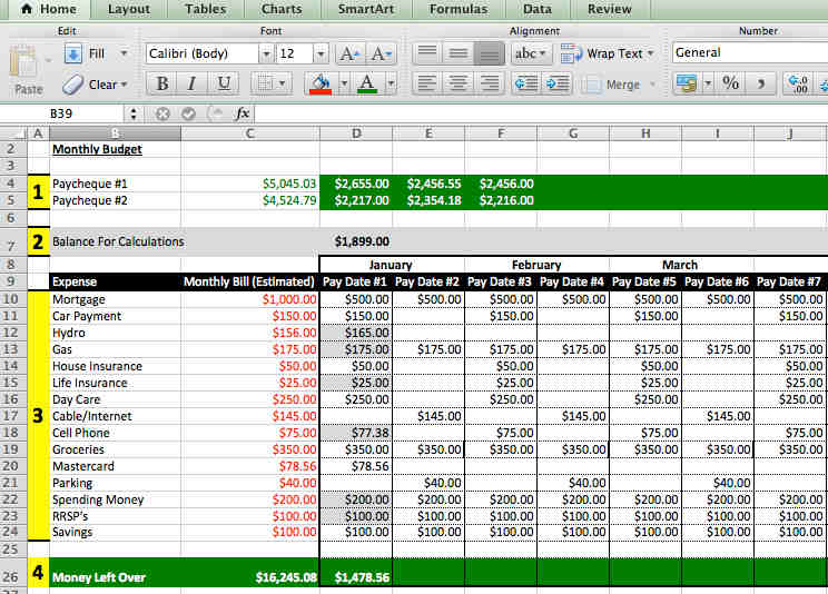 Managing Home Finances through Excel \u2013 Barry and Paul Parker\u0027s
