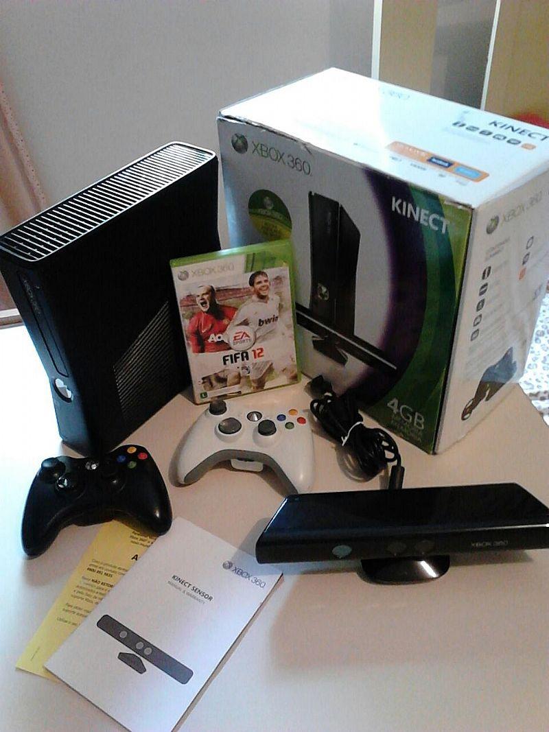 Xbox 360 slim com kinect a venda em guarulhos
