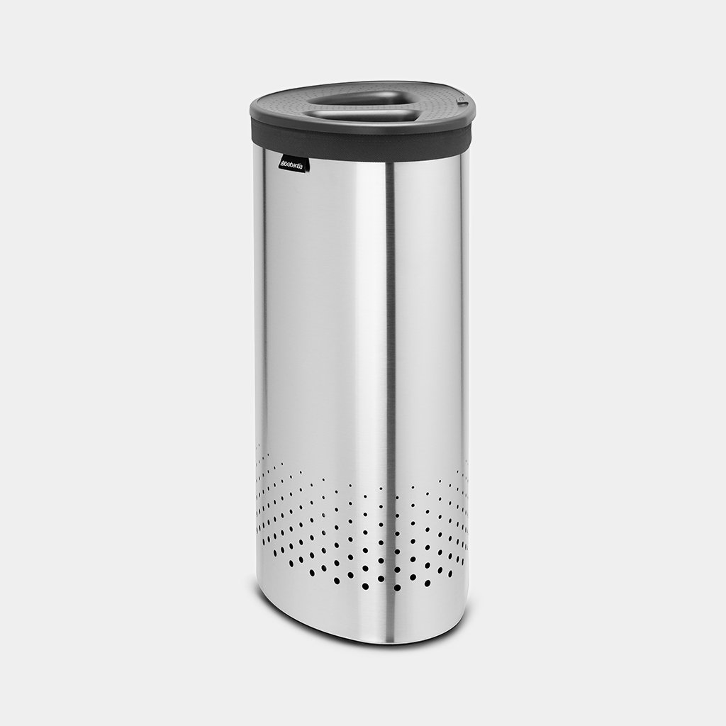 Metal Wash Bin Laundry Bin 55 Litre Selector Matt Steel