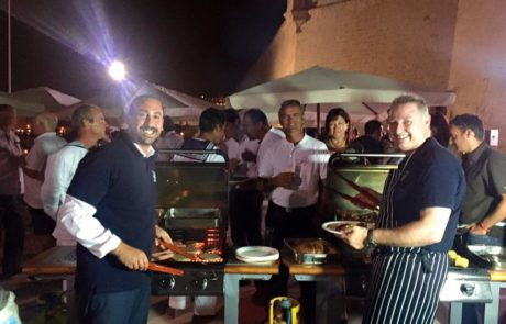 Mark Zammit and Michael Bradbury at BBQ event in Grand Harbour Marina Malta, sponsored by The Bradbury Yachting Concierge Service
