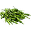 Birds eye chillies, green (per g)