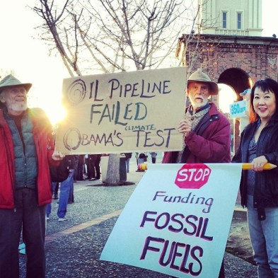 Keystone XL Vigil in Santa Cruz, February 2014