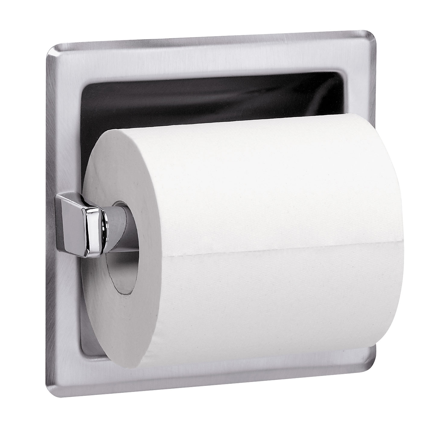 Tp Dispenser Recessed Single Roll Toilet Tissue Dispenser With Spare