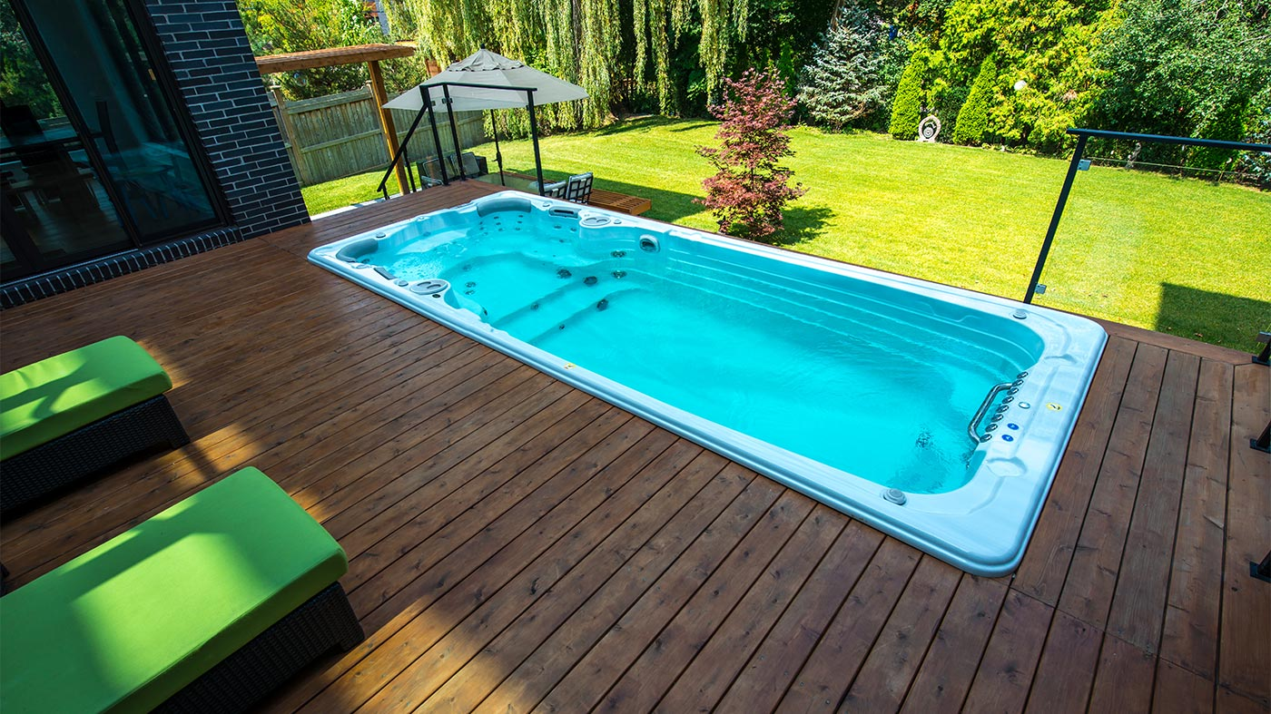 Jacuzzi Pool In Ground Pools Vs Swim Spas Which One Should You Choose Brady S Pool Spa