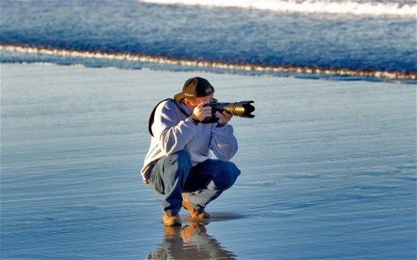 photo on beach