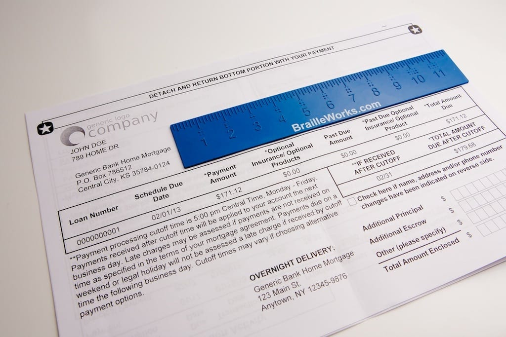 Banking and Financial Braille Statements for the Blind - Braille Works