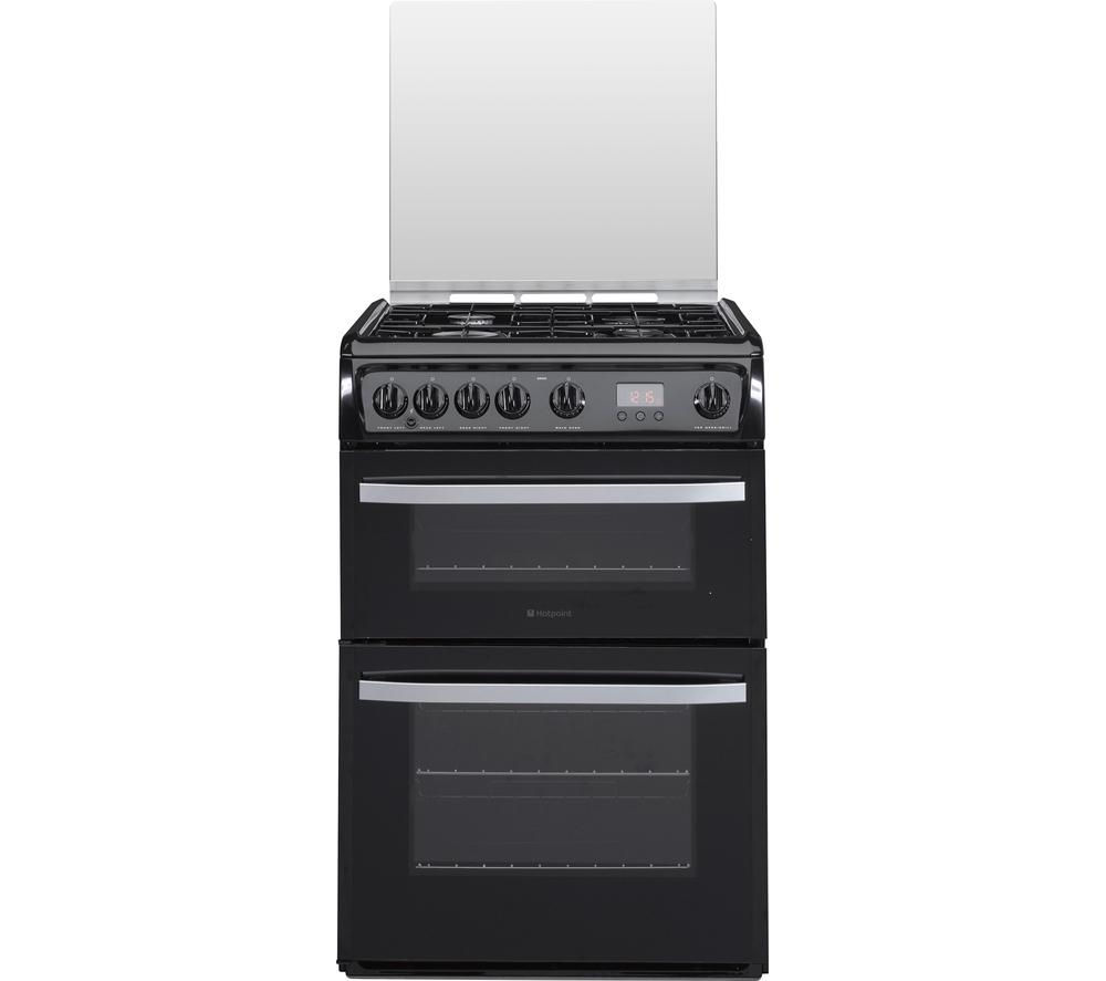 60 Cm Buy Hotpoint Dsg60k 60 Cm Gas Cooker Black Stainless Steel