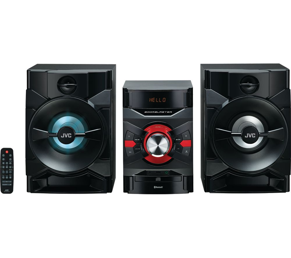 Hifi Bluetooth Jvc Mx D328b Bluetooth Megasound Party Hi Fi System Black
