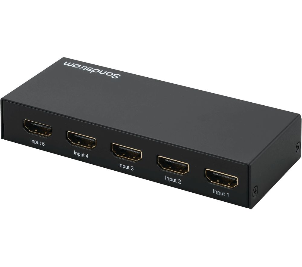 Buy Hdmi Buy Sandstrom Shdsw18 5 Way 4k Hdmi Switch Box Free Delivery