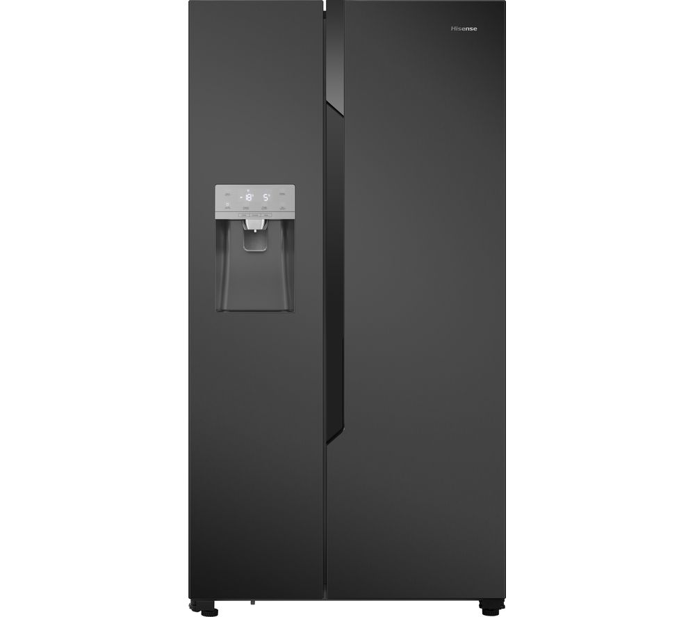 Fridge Freezer Hisense Rs694n4tf1 American Style Fridge Freezer Black Steel Sfc01 Fridgecam White