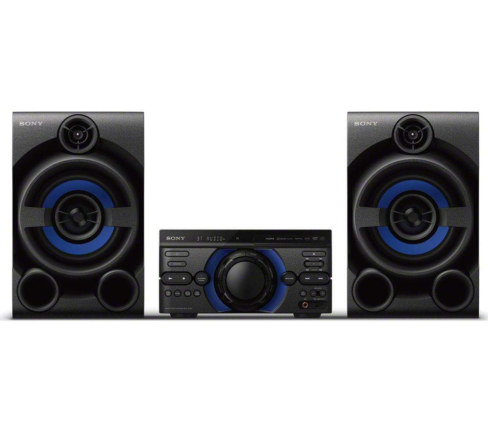 Hifi Bluetooth Sony Mhc M20d Bluetooth Traditional Hi Fi System Black