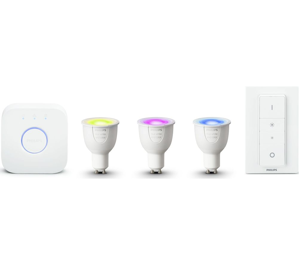 Hue G10 Buy Philips Hue White Colour Ambience Gu10 Starter Kit Free