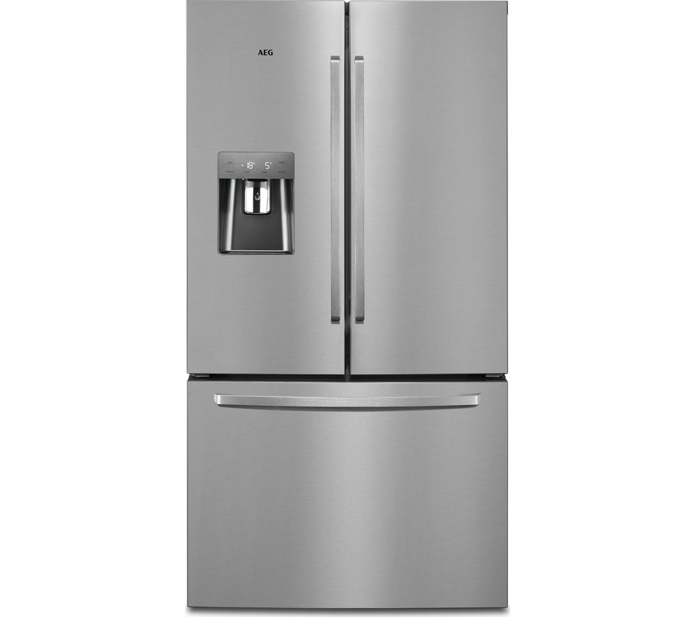 Aeg Online Shop Aeg Rmb76311nx American Style Fridge Freezer Silver Stainless Steel