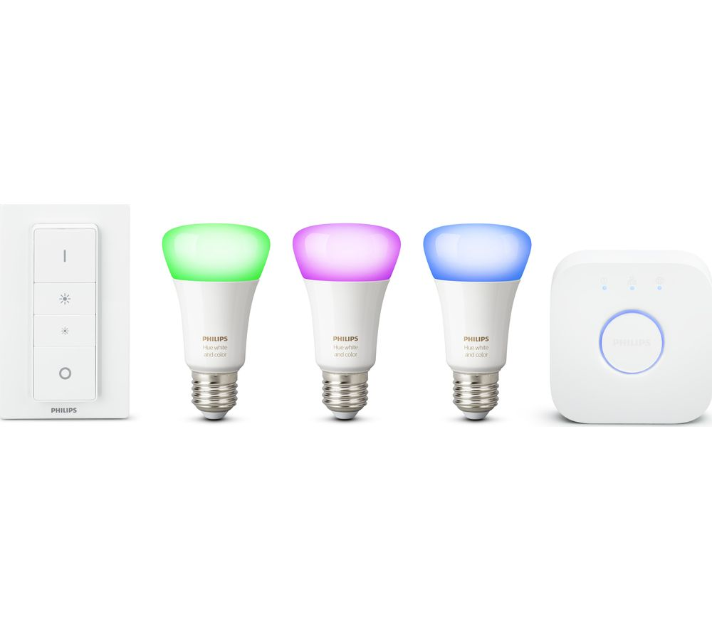 Philips Hue Starter Kit E27 Philips Hue White Colour Ambience E27 Smart Bulb Starter Kit Smart Home Start Kit Installation