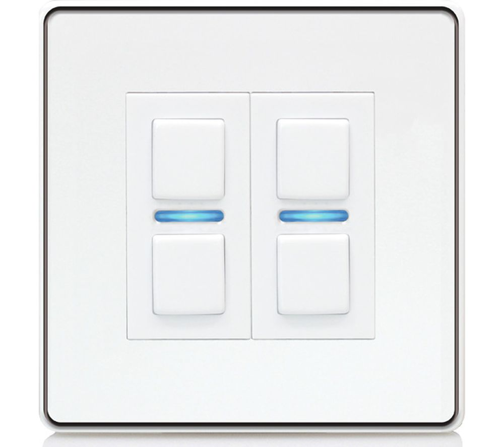 Dimmer Switch Lightwave Smart Series 2 Gang Dimmer Switch White