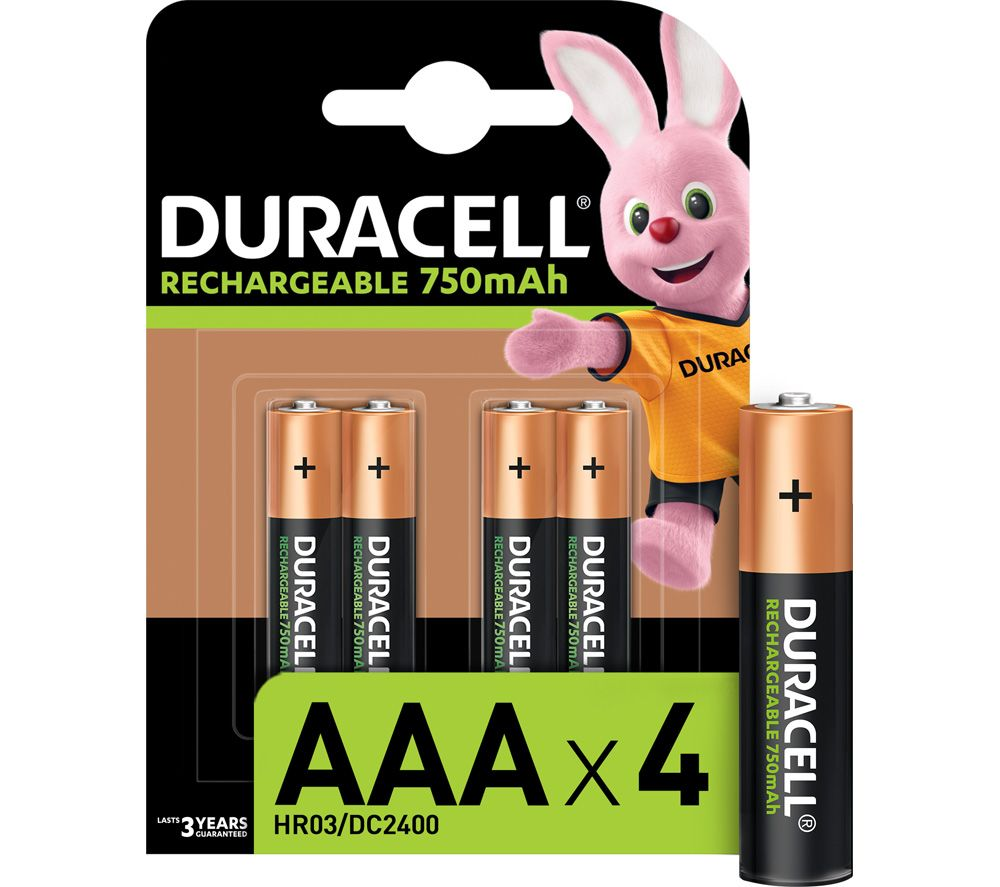 Aaa Baterien Duracell Hr03 Dc2400 Aaa Nimh Rechargeable Batteries Pack Of 4