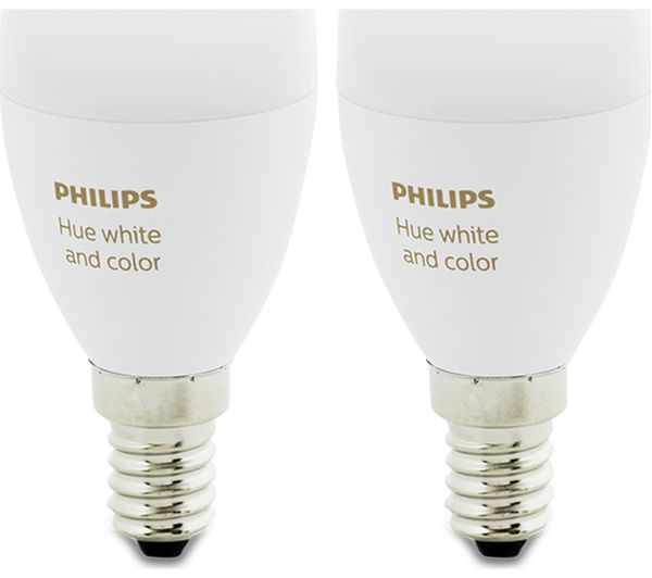 Philips Hue E14 Philips Hue White & Colour Ambience Wireless Bulb - E14