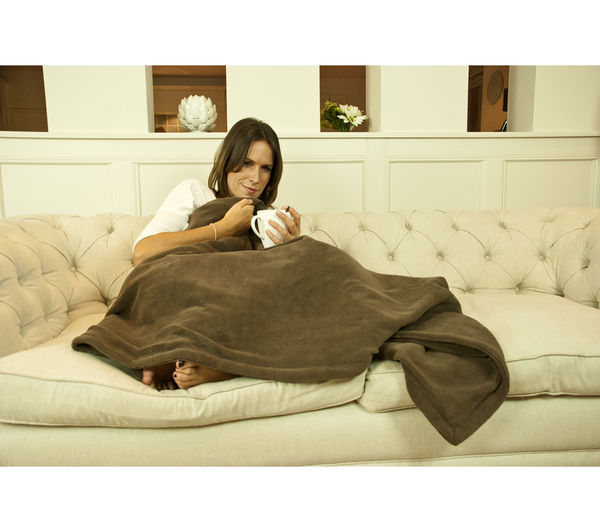 16082 Relaxwell 16082 Relaxwell Heated Chocolate Throw