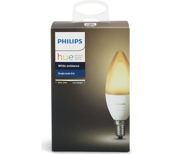 Philips Hue E14 Buy Philips Hue White Ambience Wireless Bulb - E14 | Free