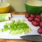 Celery sliced and ready to go.