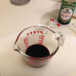 1/3 cup of soy sauce.  I use Low Sodium.