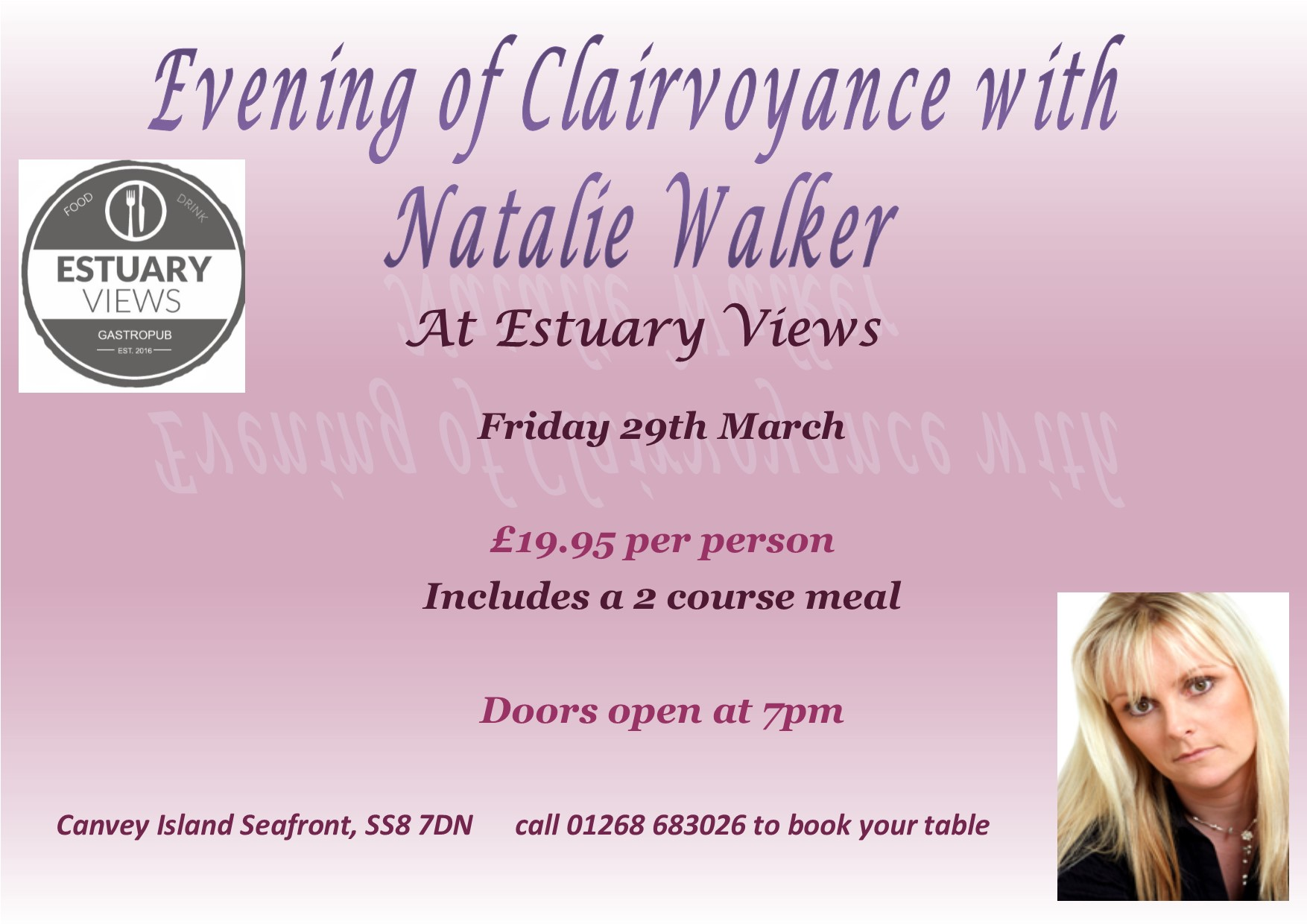 Natalie Walker Evening Of Clairvoyance With Natalie Walker On 29 March At 19 00