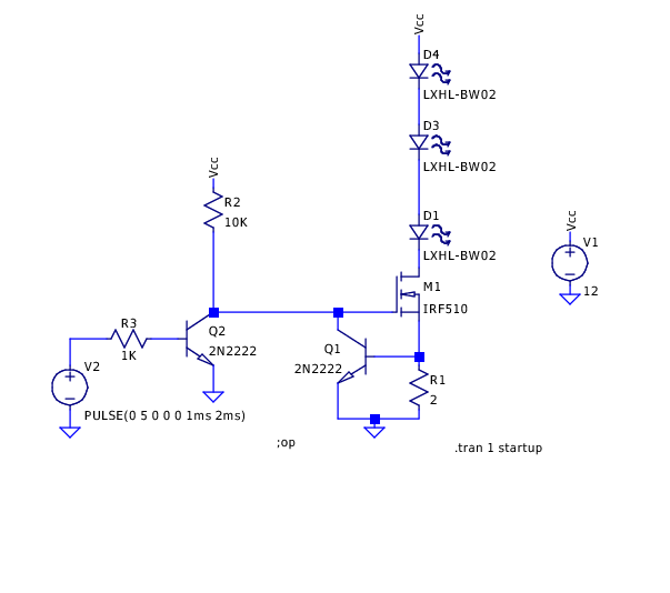 constant current led driver circuit