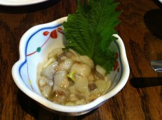 Tako Wasabi - Raw baby octupus in fresh chopped wasabi sauce
