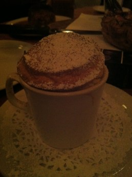 Chocolate-Apple Soufflé