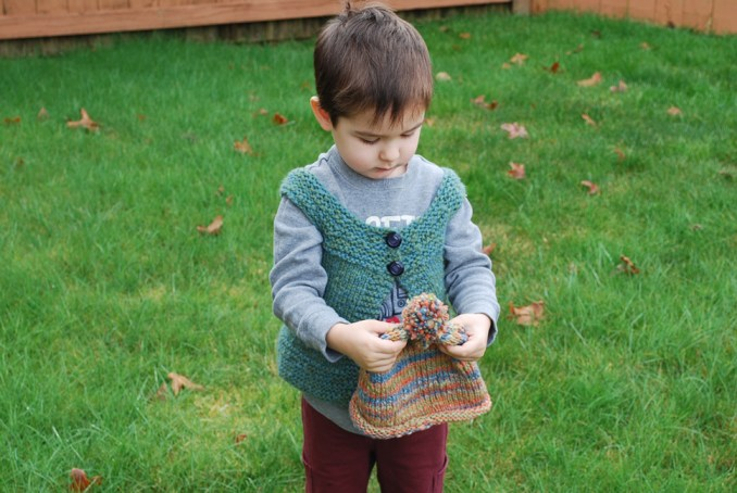 Handspun knitted toddler's hat