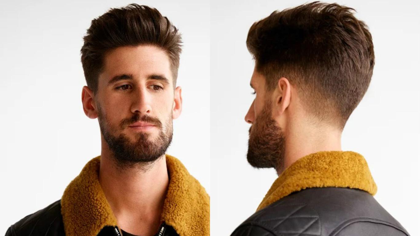 Модная мужская прическа стрижка