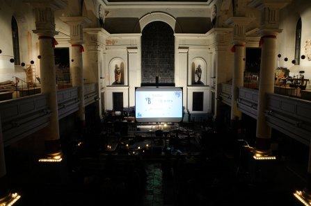 Icelandic band amiina perform a live score to Lotte Reiniger animations at Shoreditch Church in 2009
