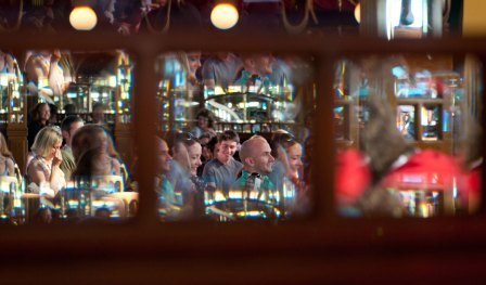 A busy afternoon in the Spiegeltent at Branchage 2011