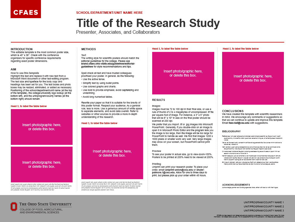 Research Posters The CFAES Brand