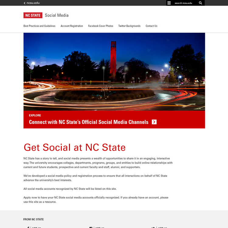 Downloads  NC State Brand - interactive website template