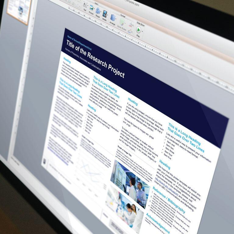 Print and Presentation Templates UBC Brand - presentation templates