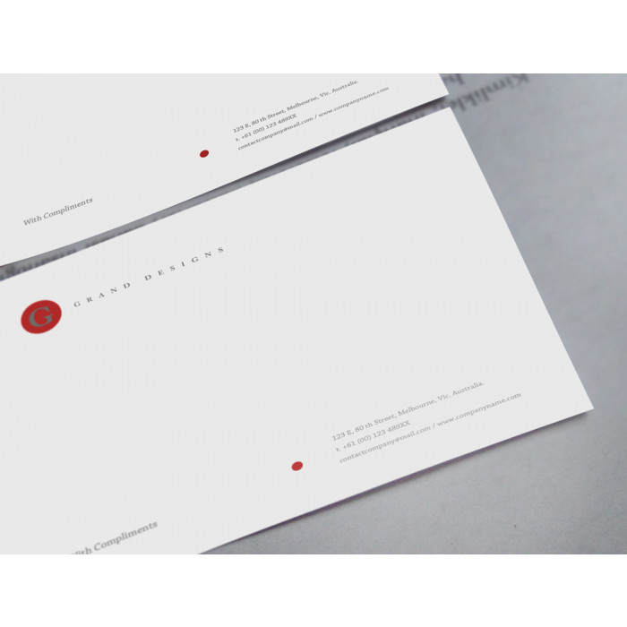 Brandaid Print Store - MSWord With Compliments Slips Template Initial