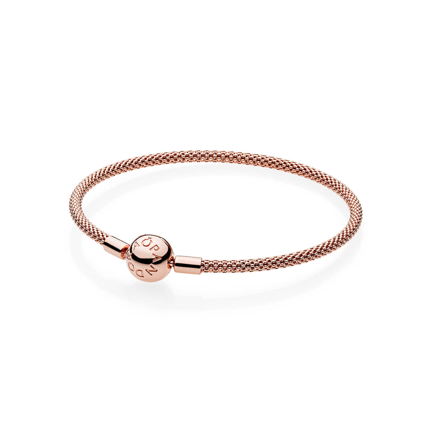 Rose Gold Armband Pandora Moments Rose Gold Colored Bracelet 586543 Length 17 00 21 00 Cm
