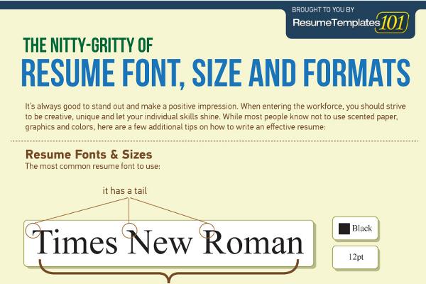 proper font for resumes