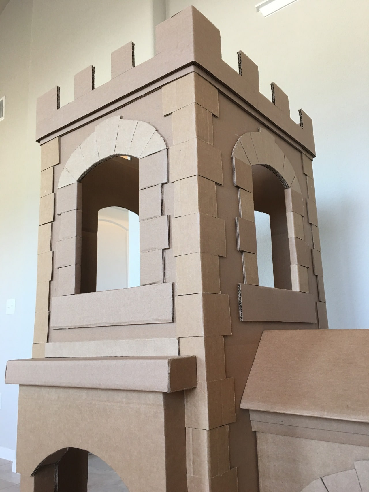 A Kid39s Dream Cardboard Castle Made Out Of Boxes Brandon