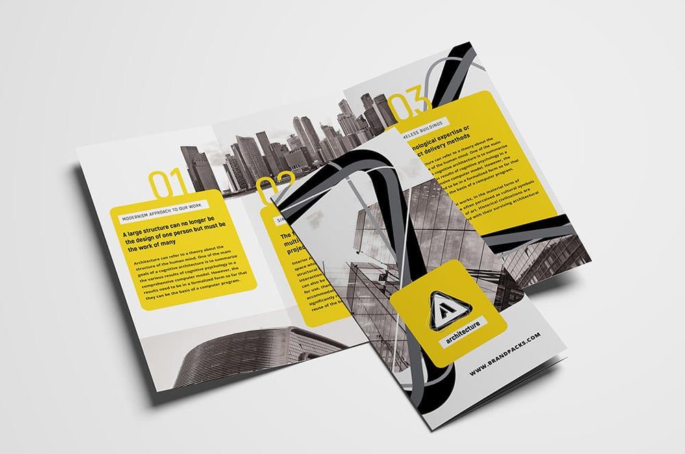 15 Free Tri-Fold Brochure Templates in PSD  Vector - BrandPacks