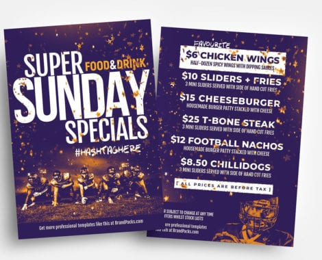 Free Super Sunday Flyer Template - PSD, Ai  Vector - BrandPacks